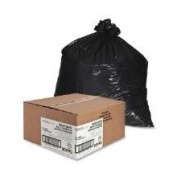 Nature Saver 75% Recycled Heavy-Duty Trash Liners, 170.3ls, 100cm x 120cm , Black, Box Of 100