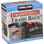 Kirkland Signature Drawstring Trash Bags - 124.9l - XL Size - 90 Count 384324