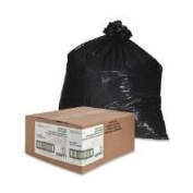 Nature Saver 75% Recycled Heavy-Duty Trash Liners, 227.1ls, 100cm x 150cm , Black, Box Of 100