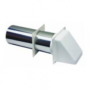 Dryer Vent Hood, White 10.2cm .