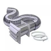 Lambro 318W Flex Aluminium Dryer Vent Kit, 10.2cm . x 8'