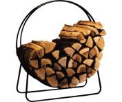 """Panacea 15209 40"""" Steel Firewood Fireplace Wood Log Holder Rack"""