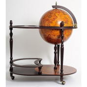 Old Modern Handicrafts Ng004 Globe Drinks Trolley 420Mm-Red