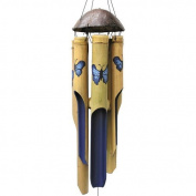 Cohasset Imports Blue Butterfly Wind Chime Size