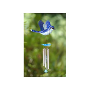 Exhart 40206 Large WindyWings Blue Jay Wind Chimes
