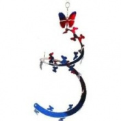 Large EySpi Butterfly Wind Spinner Blue Red - SELBFLYBR