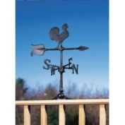 Whitehall Products Weathervanes 60cm . Black Rooster Accent Weathervane 00067