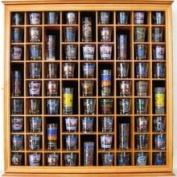 71 Shot Glass Display Case Holder Cabinet Rack