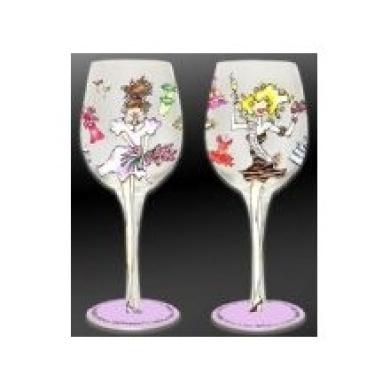 Bottom's Up 440ml Bridesmaid Handpainted Wine Glass