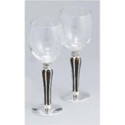 Silver/ Glass Imperial Wine Goblets