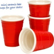 Big Mouth Toys Red Cup Shot Glasses - Set of 4