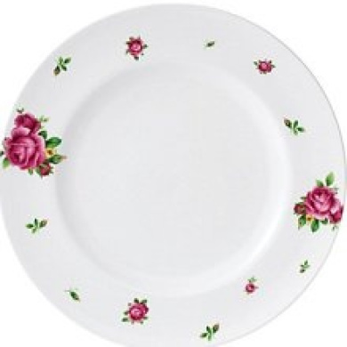 Royal Albert New Country Roses White Casual Dinner Plate
