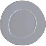 Vietri Lastra Grey Dinner Plate
