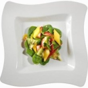 Fineline Settings 108-BO Wavetrends 8 in. Bone Salad Plate