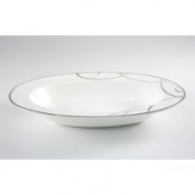 Nikko Ceramics Elegant Swirl 27.9cm Oval Vegetable Bowl