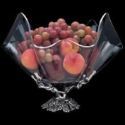 Arthur Court Grape Grapevine Stand with Clear Acrylic Bowl - 35.6cm