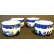 HIC Porcelain Blue Willow Chinese Tea Cup