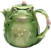 Stealstreet 15.9cm Playful Smiling Green Fairy Frog Teapot with Lily Pad Lid