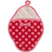 Jessie Steele 601js68 Red and Pink Polka Dot Scalloped Pot Mitt