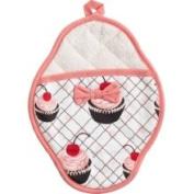 Jessie Steele 601js36 Cherry Cupcake Scalloped Pot Mitt