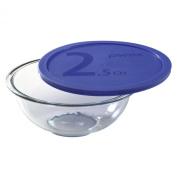 Pyrex 1069532 Smart Essentials 2.4l Mixing Bowl w/ Plastic Cover
