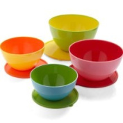 DCI DCI Two Toned Mixing Bowls with Lids Set of 4 18664