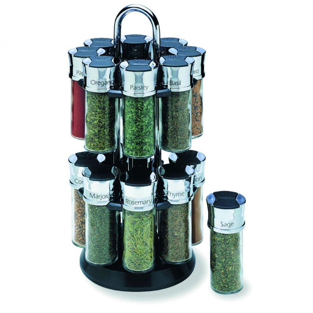 dc1ac620f9b3 Olde Thompson 16 Jar Tower Spice Rack with Spices 25604