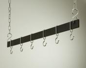 Rogar Potracks 1415 91.4cm Black and Chrome Hanging Bar Rack