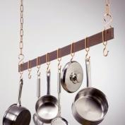 Rogar Potracks 1644 121.9cm Hammered Copper and Copper Hanging Bar Rack