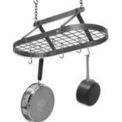 Enclume Decor Classic Hammered Steel Oval Pot Rack