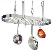 Enclume Four Point Oval Hanging Pot Rack - Stainless Steel - PR14WGSS