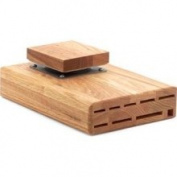 Wusthof 9 Slot Oak Under-Cabinet Swinger Knife Block 8001