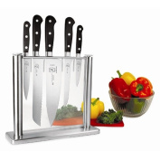Mercer Cutlery M23500 Knife Block Set Forged 6 Piece Glass