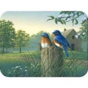 McGowan Tuftop Country Morning Bluebirds Cutting Board Size