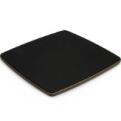 Topgourmet Serving Series Square Cheese Board, Compressed Wood Composite Slate, 22.5 x 22.5 x 0.93 Cm, Natural/Black