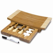 Picnic Time 823-00-505-000-0 Concavo Bamboo Board and Cheese Tool Set