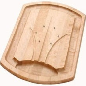 JK Adams TCB-2014-S Spiked Traditional Carving Board Maple