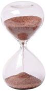 G.W. Schleidt Hourglass Sand Timer - 5 Minute Glass, Deep Red Sand