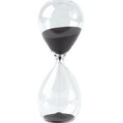 Hourglass Sand Timer - 60 Minute Black Sand, 22.9cm