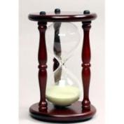 G.W. Schleidt 60030CH-Y 30 Minute Hourglass - Cherry Stand-Yellow Sand - 24.1cm .