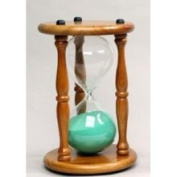 G.W. Schleidt 60030NA-G 30 Minute Hourglass - Natural Stand-Green Sand - 9.5 in.