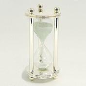 Bey-Berk International Silver Plated 5 Minute Sand Timer