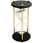Bey-Berk Brass/Green Marble Sand Timer, 60 Minute, T.P. - D825