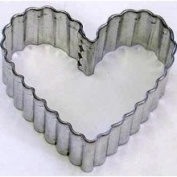 R and M Heart Cookie Cutter - Fluted 2.