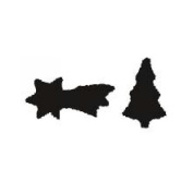 Thermohauser Thermo Cookie Cutting Sheet 7.9cm & 6.7cm X-Mas Tree/Star 24/26 Per Sheet
