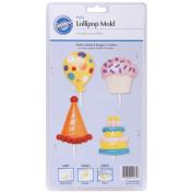 Wilton W4434 Lollipop Mold-Birthday 4 Cavity