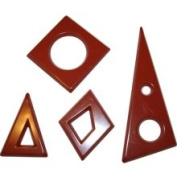 Cabrellon Chocolate Mould Geometric Shapes 3mm Thick 11 Cavities