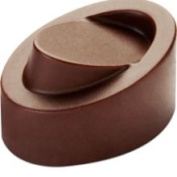 Pavoni Chocolate Mould Skewed Oval 32x23mm x 19mm High 21 Cavities