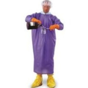 Ansell 56-903 Coat Apron, Cleanroom, Size Small, Blue
