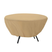 Classic Accessories 58202 Patio Table Cover Round - Tan